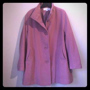 Liz Claiborne Dusty Rose Pea Coat 16 or 1x